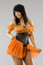 Flo Orange Tulle Pettiskirt